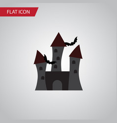 Isolated castle flat icon fortress element vector
