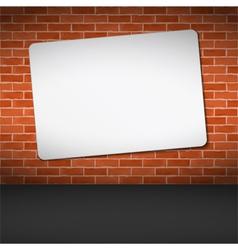 Banner on Brick Wall vector image
