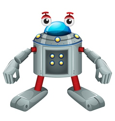 A cute gray robot vector
