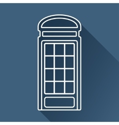 Telephone box icon eps10 vector