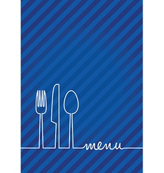 Blue menu vector