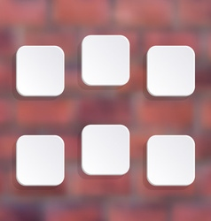 White buttons vector
