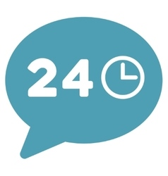 Message hours flat icon vector