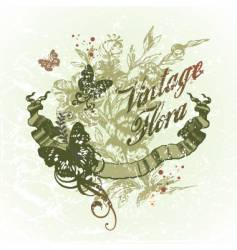 vintage flora vector image