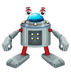 A cute gray robot vector image