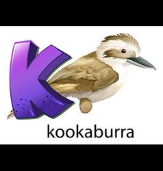 A letter k vector