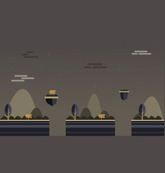 Background game scenery at night vector