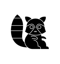 badger raccoon cute icon vector image
