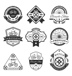 Bicycle labels vector