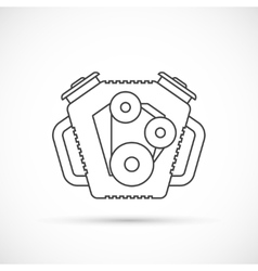 Car engine outline icon vector