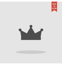 Crown icon Flat design style vector image vector image