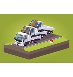 Cube world pile of white trucks vector