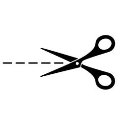 Cut lines and scissors vector