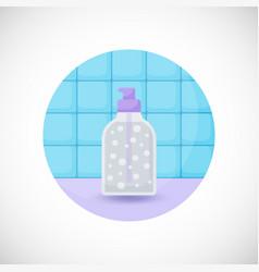 Dispenser bottle flat icon vector