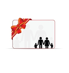 family card with bow vector image