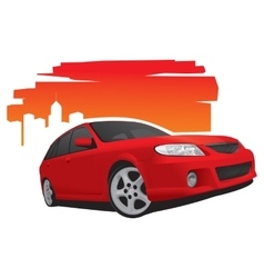 Fast red car vector