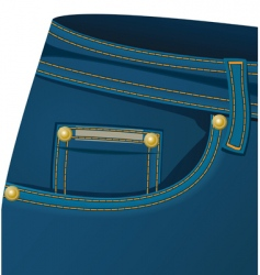 Front pocket of a jeans vector