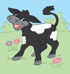Happy Calf vector image vector image