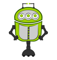 Isolated cute robot vector