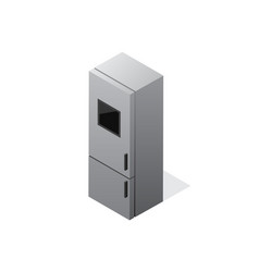 Isometric gradient fridge icon vector