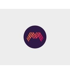 Letter m logo icon design creative line vector