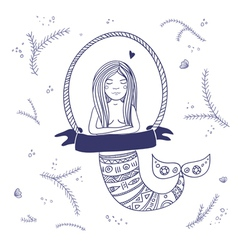 mermaid isolated vector image