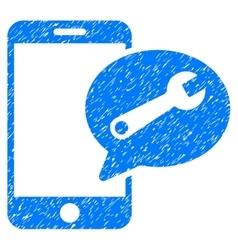 Phone service sms grainy texture icon vector