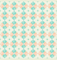 Seamless pattern retro vintage ornamental vector