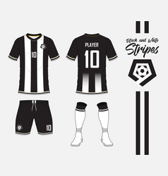 Soccer kit or football jersey template and logo vector