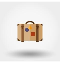 Suitcase flat icon vector