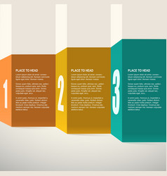 Template for presentation infographics design vector