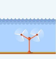Tidal power station clean renewable energy vector
