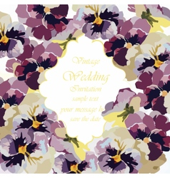 Vintage Watercolor Greeting Card vector image
