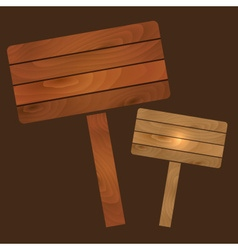 wooden plates signs boards with texture eps10 vector image vector image
