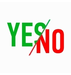 Yes or No icon simple style vector image vector image