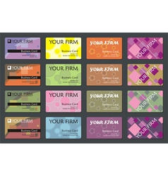 Business name card set vector
