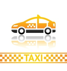 Taxi cab icon vector