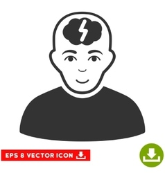 Clever boy eps icon vector