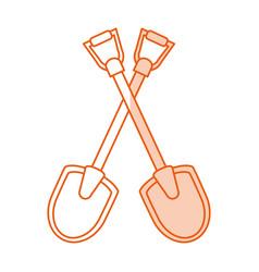 monocromatic shovels design vector image