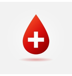 Blood red icon or logo vector