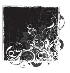 urban floral background vector image