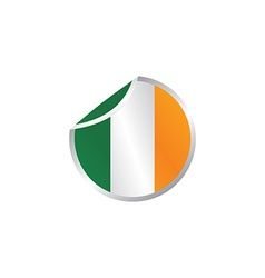 Glossy theme ireland national flag vector