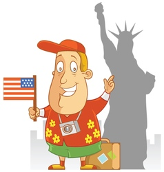 Tourist travel america vector