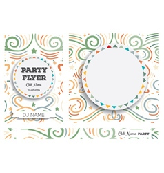 Set club flyers with copy space vector