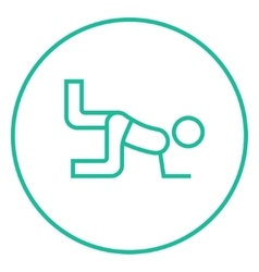 Man exercising buttocks line icon vector