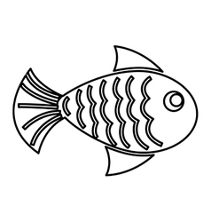 Fish isolated icon design vector