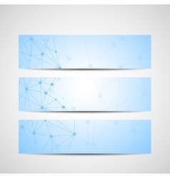 Abstract geometric banners molecule and vector image vector image