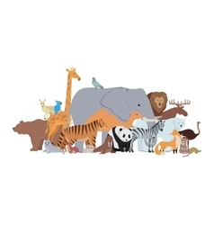 Animals of Different Spices Banner Zoo Poster vector image vector image