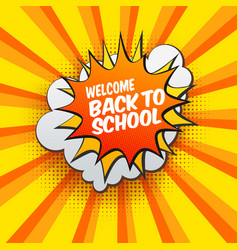 Back to school bubble vector