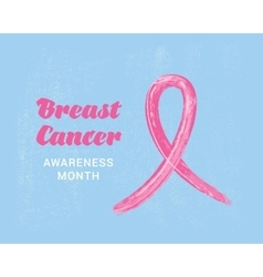 Breast Cancer Awareness Ribbon Background Can be vector image vector image